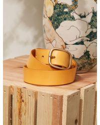 Reformation - Maximum Henry Wide Oval Brass Buckle Belt - Lyst