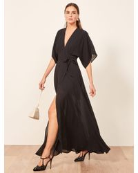 bfc7103cc37c Lyst - Reformation Cabot Dress in Black