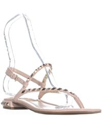 Marc Fisher - Pamali Studded Flat Sandals - Lyst