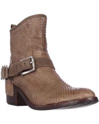 Donald J Pliner - Wade Western Ankle Boots - Lyst
