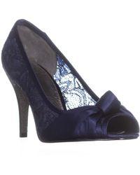 Adrianna Papell - Francesca Bow Slim Heels, Indigo Satin - Lyst