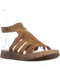 f4874edf614 Eileen Fisher Spree-lt Mesh Velcro Sandals in Metallic - Lyst