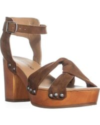 Lucky Brand - Whitneigh Knotted Front Block Heel Sandals - Lyst