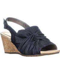 Bandolino - Gayla Twisted Knot Wedge Sandals - Lyst