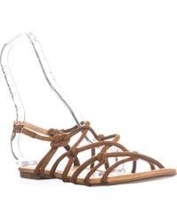 265f88c68fb9a3 Sam Edelman  gail  Beaded T-strap Flat Sandals - Lyst