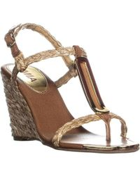 MIA - Tiffany Ankle Strap Wedge Sandals - Lyst