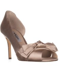 Nina - Forbes2 Peep-toe D'orsay Dress Court Shoes - Lyst
