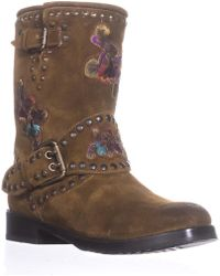Frye - Nat Flower Engineer Mid Calf Studded Boots - Lyst