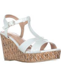 Callisto - Aspenn T-strap Wedge Sandals - Lyst