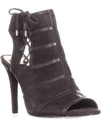 Lauren by Ralph Lauren - Mimi Mule Ankle Strap Court Shoes, Charcoal - Lyst