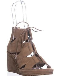 Eileen Fisher - Dibs Lace Up Wedge Sandals - Lyst