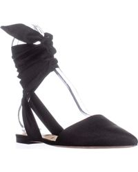 Sam Edelman - Brandie Pointed Toe Lace-up Flats - Lyst