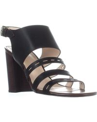 Cole Haan - Lavelle Leather Open Toe Casual Ankle Strap Sandal - Lyst