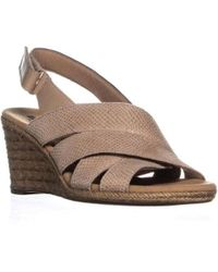 Clarks - Lafley Krissy Comfort Wedge Sandals - Lyst