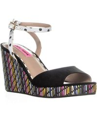 Betsey Johnson - Dotie Ankle Strap Wedge Sandals - Lyst