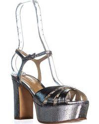 dae1e073d180 Schutz - Scutz Keefa Platform Ankle Strap Sandals - Lyst