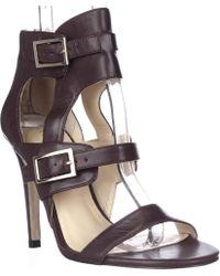 Ivanka Trump - Donalu Ankle Cuff Dress Sandals - Dark Red - Lyst