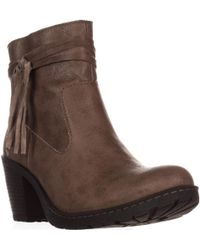 Born - Alicudi Tassel Lug Sole Ankle Boots - Lyst