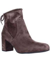 Franco Sarto - Pisces Black Lace Ankle Booties - Lyst