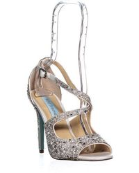 Betsey Johnson - Sage Cirss Cross Ankle Strap Sandals, Ivory - Lyst