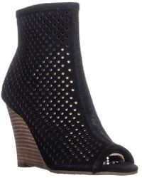 Carlos By Carlos Santana - Regine Perforated Wedge Boots - Lyst