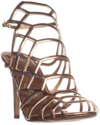 Madden Girl - Directt Caged Ankle Strap Sandals - Lyst