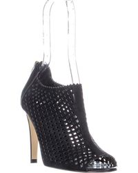 Marc Fisher - Peddle Perforated Peep Toe Boots - Lyst