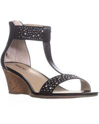 Rialto - Cleo Rhinestone Wedge Sandals - Lyst