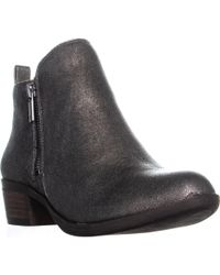 Lucky Brand - Basel Side Zip Ankle Boots - Lyst
