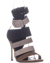 8060b12c289b Lyst - Sam Edelman Okala Zebra-Print Ankle-Wrap Pump in Black