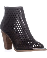 Report - Ronan Perforated Ankle Booties - Lyst