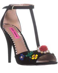 Betsey Johnson - Lenox Gemstone Ankle Strap Sandals - Lyst