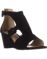 Esprit - Angel Wedge Buckle Sandals - Lyst
