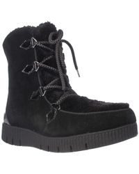 Sporto - Cream Platform Lace Up Winter Boots - Lyst