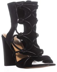 BCBGeneration - Fay Peep Toe Caged Sandals - Lyst