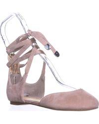 Ivanka Trump - Elise Lace Up Ballet Flats - Lyst