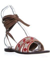 ad8324685e5 Lyst - Calvin Klein Luisa Suede Sandals in Gray