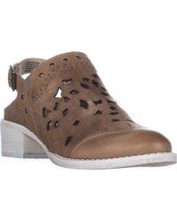 Naughty Monkey - Ms.kali Slingback Stitched Mule Court Shoes - Lyst