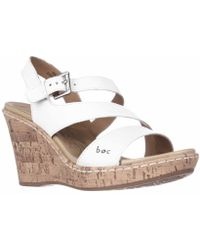 Born - Schirra Slingback Cork Wedge Sandals - Lyst