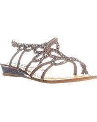 Naughty Monkey - Eclipse Studded Flat Strappy Sandals - Lyst