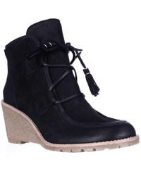 65efd7d7f08 Easy Spirit Cheltzie Wedge Ankle Boots in Black - Lyst