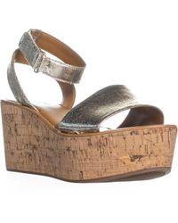 Franco Sarto - Jovie Platform Wedge Sandals - Lyst