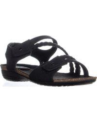 bc93dcc15c5c Naturalizer Kimono Flat Sandals in Black - Lyst