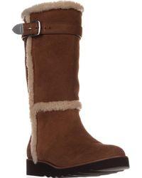 COACH - Belment Mid-calf Fleece-lined Winter Boots, Saddle Suede - Lyst