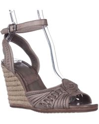 Frye - Patricia Concho Woven Wedge Espadrille Sandals - Lyst