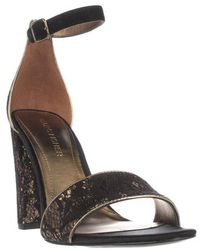 Marc Fisher - Factor4 Ankle Strap Dress Sandals - Black Multi - Lyst