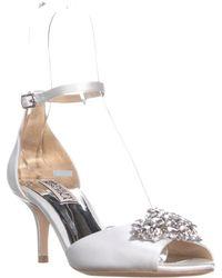 05ec8b4ea7e Lyst - Badgley Mischka Jewel By Hendricks Rhinestone Dress Sandals ...