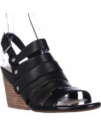 Naya - Lassie Strappy Wedge Sandals - Black - Lyst