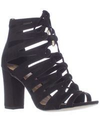 Madden Girl - Banerrr Strappy Caged Lace Up Sandals - Lyst