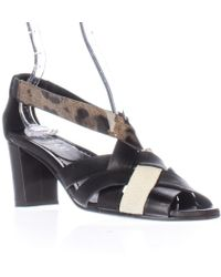 Anyi Lu - Mara Low Heel Dress Sandals - Lyst